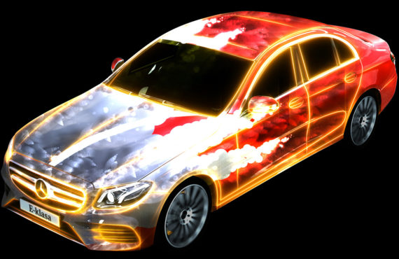 Mercedes E-Class video projection